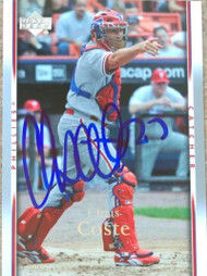 Chris Coste Autographed 2007 Upper Deck #390