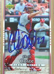 Chris Coste Autographed 2007 Upper Deck First Edition #253