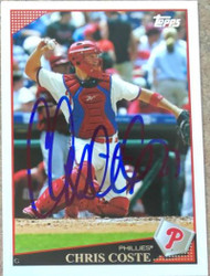 Chris Coste Autographed 2009 Topps #291