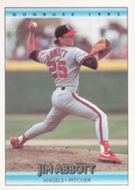 1992 Donruss #130 Jim Abbott VG California Angels