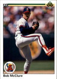 1990 Upper Deck #81 Bob McClure VG California Angels