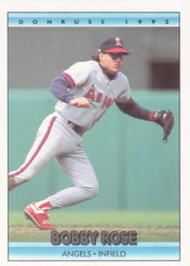 1992 Donruss #90 Bobby Rose VG California Angels