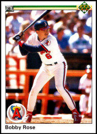 1990 Upper Deck #77 Bobby Rose UER VG California Angels