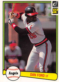 1982 Donruss #468 Dan Ford VG California Angels