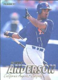 1997 Fleer #34 Garret Anderson VG Anaheim Angels