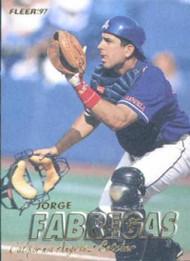 1997 Fleer #42 Jorge Fabregas VG Anaheim Angels