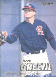 1997 Fleer #44 Todd Greene VG Anaheim Angels