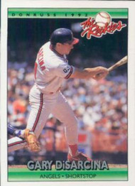 1992 Donruss Rookies #32 Gary DiSarcina VG California Angels