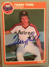 Terry Puhl Autographed 1985 Fleer #356