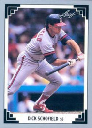 1991 Leaf #59 Dick Schofield VG California Angels