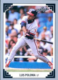 1991 Leaf #81 Luis Polonia VG California Angels