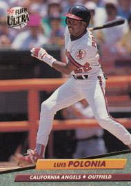 1992 Ultra #29 Luis Polonia VG California Angels
