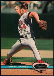 1991 Stadium Club #98 Bryan Harvey VG California Angels