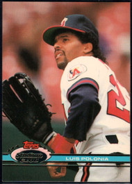 1991 Stadium Club #144 Luis Polonia VG California Angels