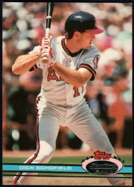 1991 Stadium Club #59 Dick Schofield VG California Angels