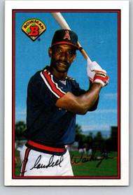 1989 Bowman #52 Claudell Washington VG California Angels