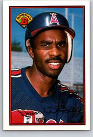 1989 Bowman #54 Devon White VG California Angels