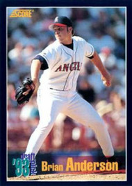 1994 Score #468 Brian Anderson VG RC Rookie California Angels