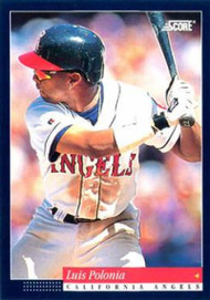 1994 Score #45 Luis Polonia VG California Angels