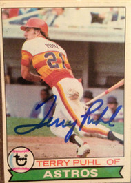 Terry Puhl Autographed 1979 Topps #617