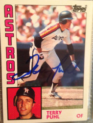 Terry Puhl Autographed 1984 Topps Tiffany #383