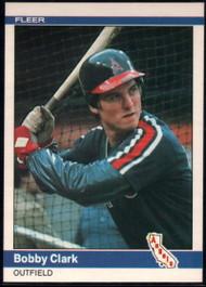 1984 Fleer #512 Bobby Clark VG California Angels