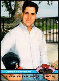 1992 Stadium Club Dome #46 Jorge Fabregas VG RC Rookie California Angels