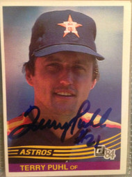 Terry Puhl Autographed 1984 Donruss #476