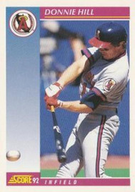 SOLD 63889 1992 Score #183 Donnie Hill VG  California Angels