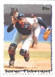 1995 Topps #493 Jorge Fabregas VG  California Angels