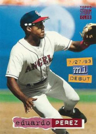 1994 Stadium Club #189 Eduardo Perez VG California Angels