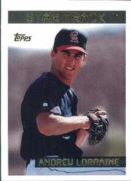 1995 Topps #221 Andrew Lorraine VG  California Angels