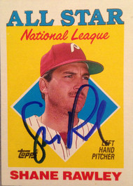 Shane Rawley Autographed 1988 Topps #406