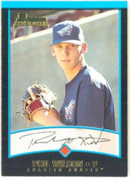2001 Bowman #349 Phil Wilson VG RC Rookie Anaheim Angels