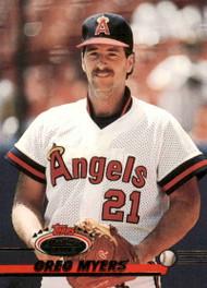 1993 Stadium Club #490 Greg Myers VG California Angels