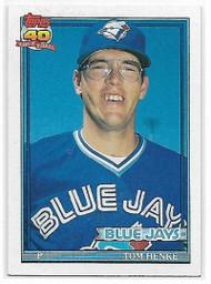1991 Topps #110 Tom Henke VG Toronto Blue Jays