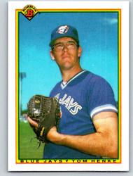 1990 Bowman #506 Tom Henke VG Toronto Blue Jays