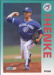 1992 Fleer #331 Tom Henke VG Toronto Blue Jays