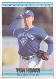 1992 Donruss #141 Tom Henke VG Toronto Blue Jays