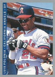 1993 Fleer #196 Luis Polonia VG California Angels