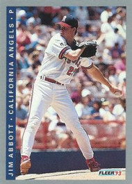 1993 Fleer #187 Jim Abbott VG California Angels