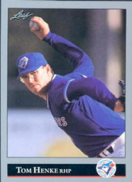 1992 Leaf #159 Tom Henke VG Toronto Blue Jays