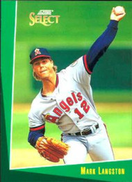 1993 Select #52 Mark Langston VG California Angels