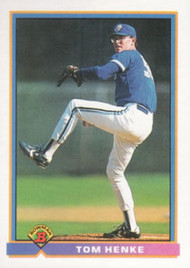 1991 Bowman #16 Tom Henke VG Toronto Blue Jays