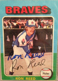 Ron Reed Autographed 1975 Topps #81