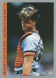 1993 Fleer #234 Mickey Tettleton VG Detroit Tigers