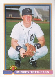 1991 Bowman #140 Mickey Tettleton VG Detroit Tigers