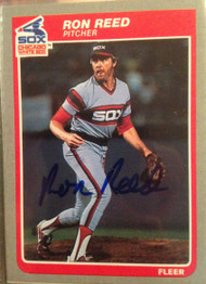 Ron Reed Autographed 1985 Fleer #524