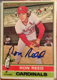 Ron Reed Autographed 1976 Topps #58