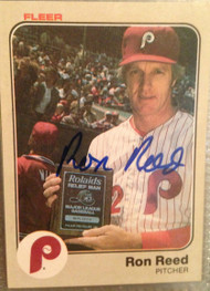 Ron Reed Autographed 1983 Fleer #69